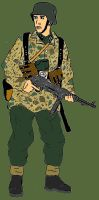 Waffen SS Soldat -colored- by CrashyBandicoot