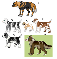 Dog Adoptables SOLD by fringedfox