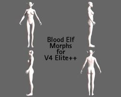 Blood Elf morph for V4 by TsubasaShi