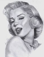 Marilyn Monroe Portrait by AoiSayzuki