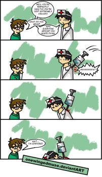 DC: The Doctor Visit Comic by OneWingedMuse