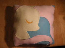 Fluttershy Pillow by Inciatus