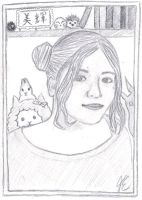 7 Days Drawing Challenge - Day 1: Selfie by miki-chaan