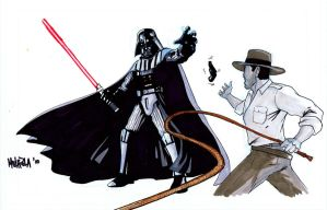 Darth Vader vs Indiana Jones by BloodySamoan
