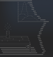 Ascii Art: Light in a dark night by Ermac94