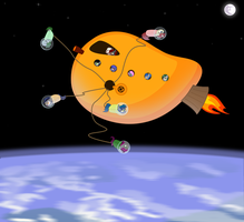 Bat Space Station by VectorVito