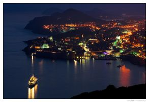 Dubrovnik At Night by miki3d