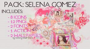 Pack Selena Gomez by DestinyRawrMars