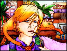 Ingrid and Aristotle Colored by Caelhath