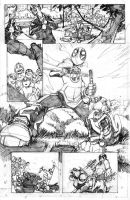 Deadpool Family 1 pg 1 Pencils by DrummerboyDomo