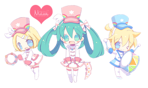 Render #103 - Chibi Vocaloid by Nuuii
