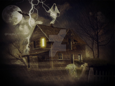 Matte Painting(Haunted House) by Krazy-Kriti