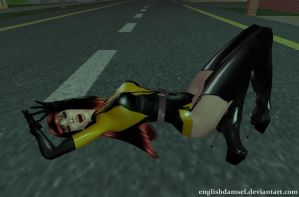 Silk Spectre Defeated by EnglishDamsel