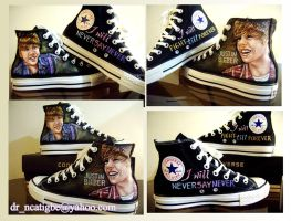 Justin Bieber on Converse by alcat2021