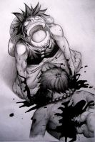 The Death of Portgas D. Ace by TicoDrawing