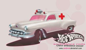 Chevy Gasser ambulance by candyrod