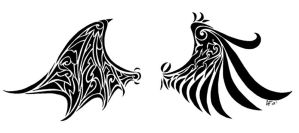 Demon and Angel wings by lil-creeper