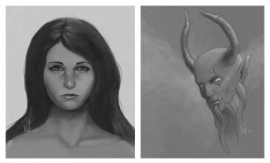 Sketchy faces by ienkub