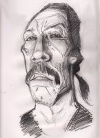 danny trejo  caricature sketch by j0epep