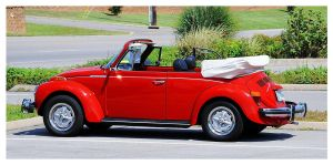 Red VW Convertible by TheMan268