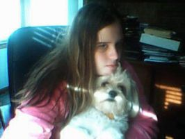 me and my Dog Roxy by CrystalTheHedgehog18