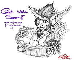 Get Well Soon - A Goblin Fruitbasket! by Trollsngoblins