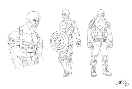 Captain-America Lineart by RaPour