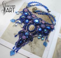 Tinuviel - embroidered necklace by Callista1981