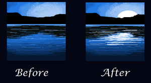 Lake before and after by BlackWolfXP