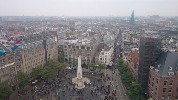 amsterdam from a ferris wheel by retmans
