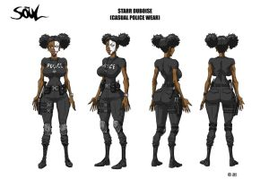 Starr Duboise Casual Police Wear Style Sheet by WinstonWilliams