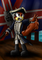 Admiral John Edwards the Squirrel by OrionTHedgehog