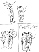 CAS AND DEAN SEXY TIME by moonywerecat
