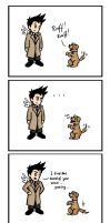 Cas vs Puppy Power by blackbirdrose