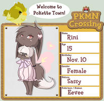 :PKMN Crossing App Sheet: Rini by May19757
