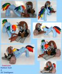 Rainbow Dash and OC pony custom sculpt commission by MadPonyScientist