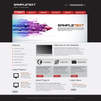 Vector Business Website Template 3 by phyllis-L
