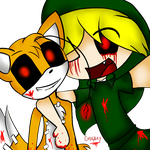 Tails doll And ben drowned selfie by catalyshy