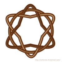 Celtic knot pattern 03 by Cattereia