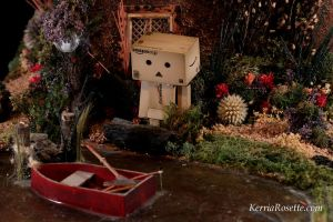 Danbo by the Pond by KerriaRosette