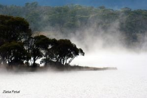 fog around lakeI by Zlata-Petal