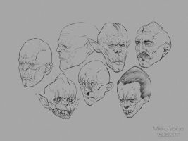 Monster portraits by MikkoVoipio