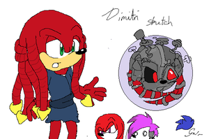 Dimitri the echidna by AkuKoyotePatchi