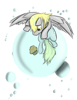 Derpy's Bubbles by DracoKrawl