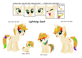MLP FIM: Pony for adopt Lighting Dash by VioletDraw