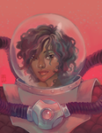 pink space by amytaluuri