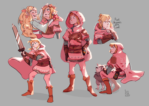 Pink Rhymes With Link by JailhouseKing