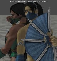 Kitana and Jade MK 2011 by Kennedy2010