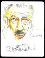 Sketchbook: John Steinbeck by JackRaz