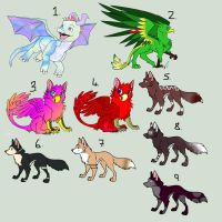 SALE!!! 1 Point Adoptables - CLOSED by Adopt-Til-You-Drop